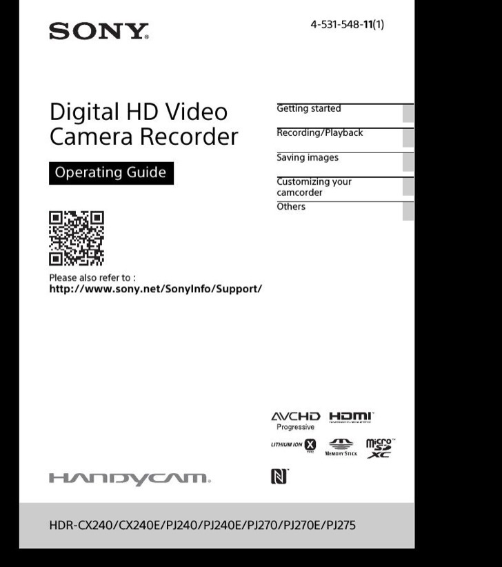 sony dcr-sr45 quick instructions