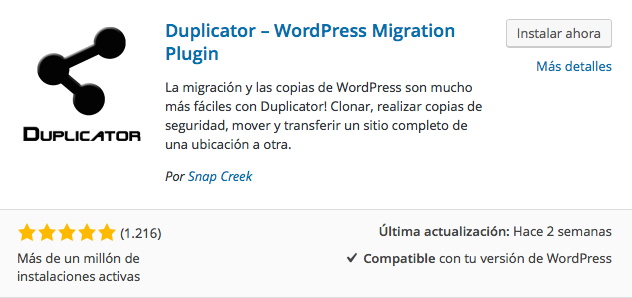 wordpress duplicator plugin instructions