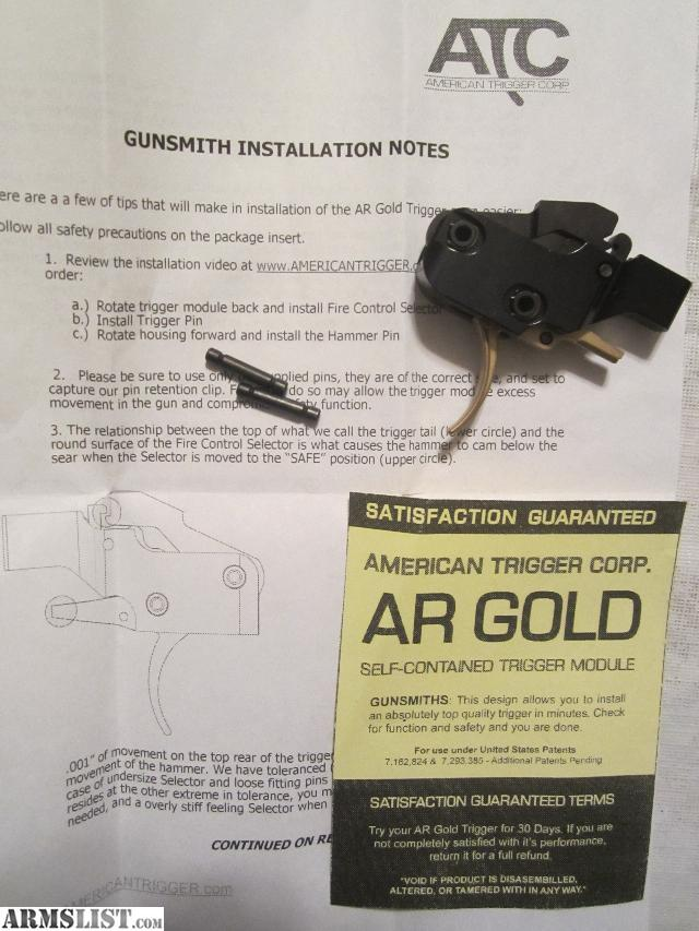 jewell ar trigger instructions