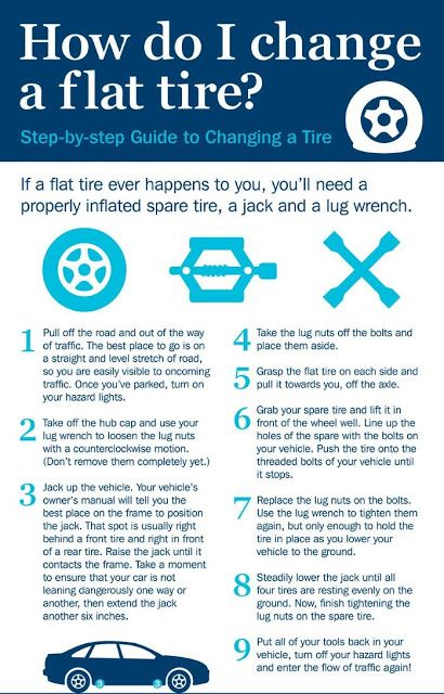 how to change a tire on a car instructions