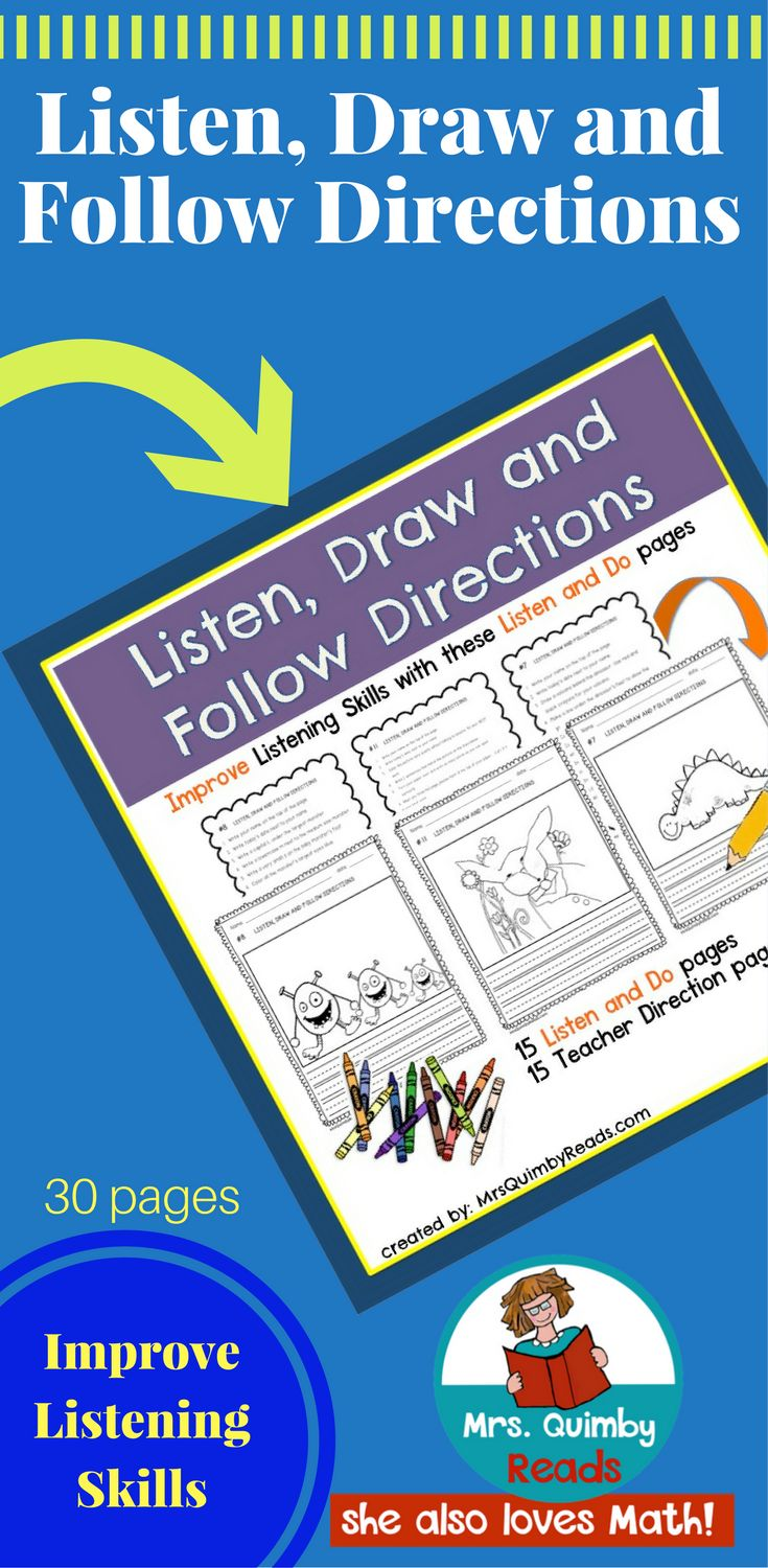 listen to the instructions and draw the picture