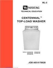 maytag topload clothes washer levelling instructions