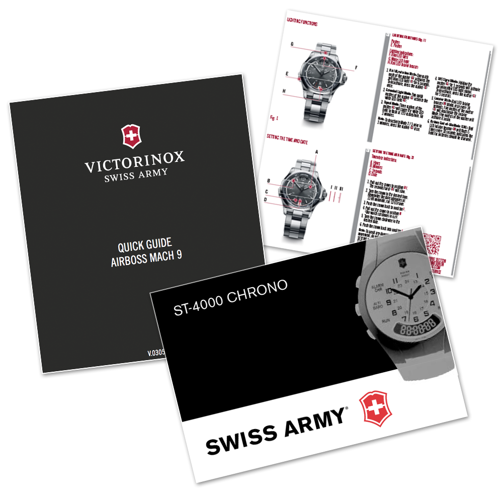 swiss army night vision watch instructions