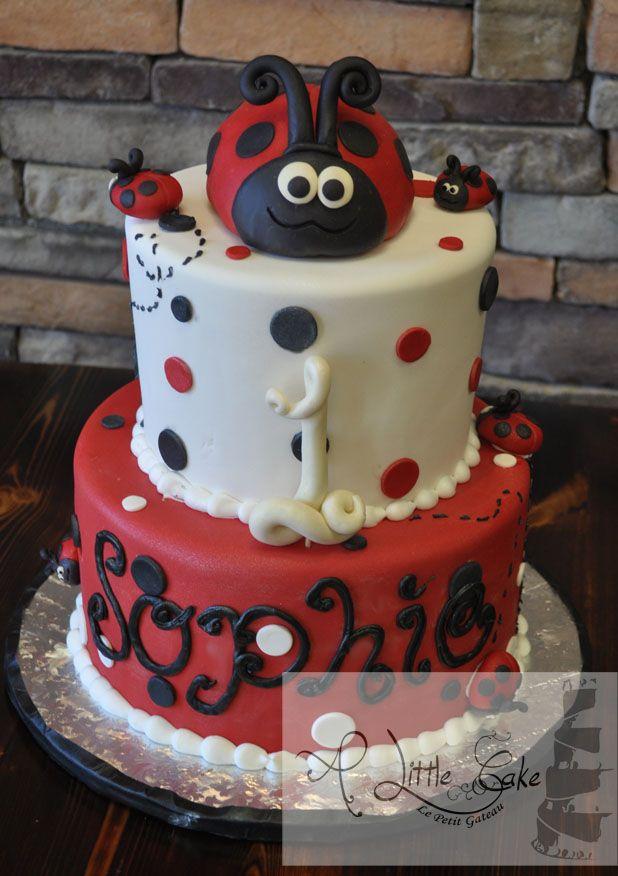 ladybug birthday cake instructions