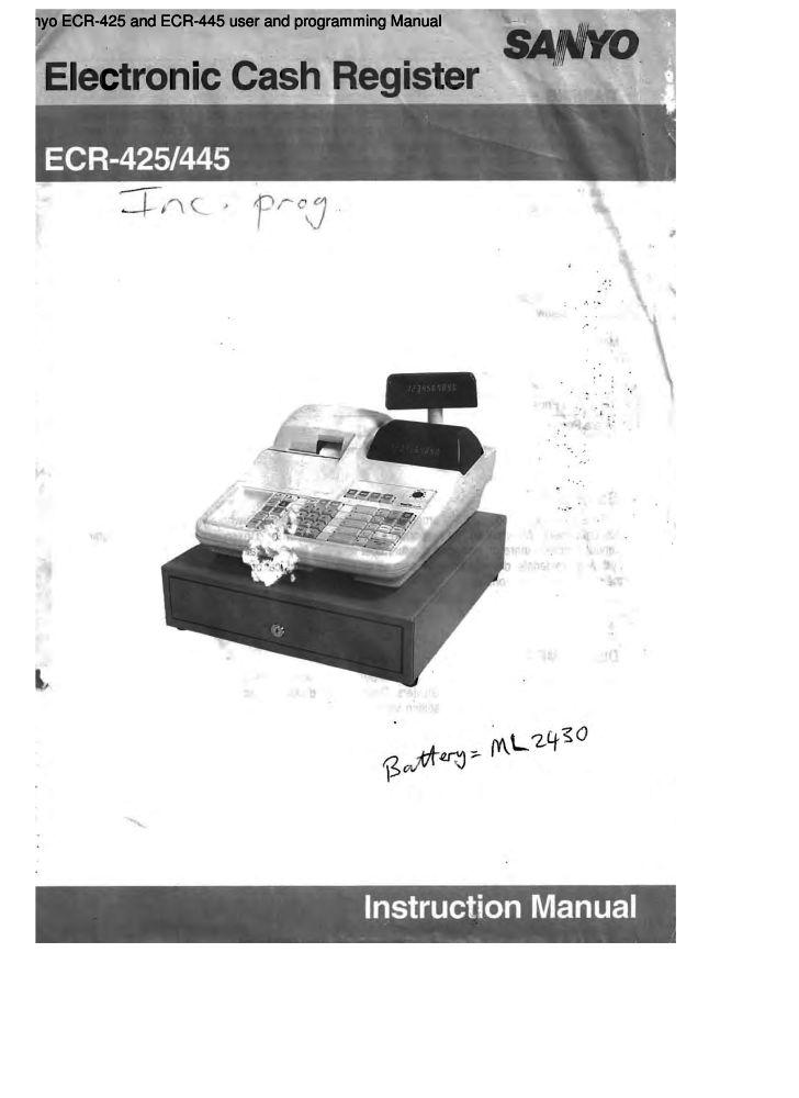 sanyo ecr 165 instruction manual cash register operation manual pdf