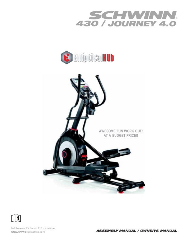 q47 elliptical instruction manual