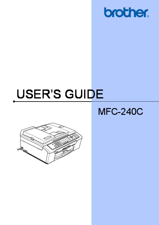 brother mfc-240c release printhead instructions