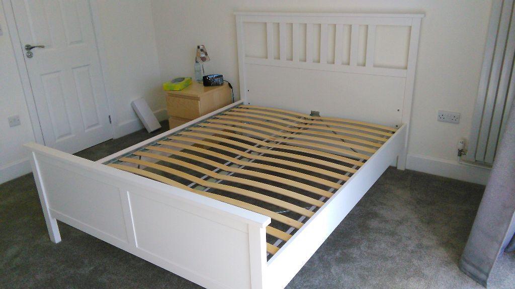 hemnes king size bed frame instructions