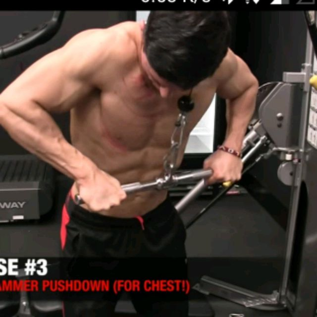 cable push down exercise instructions