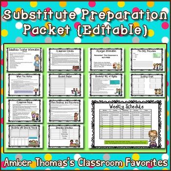 substitute teacher instructions free