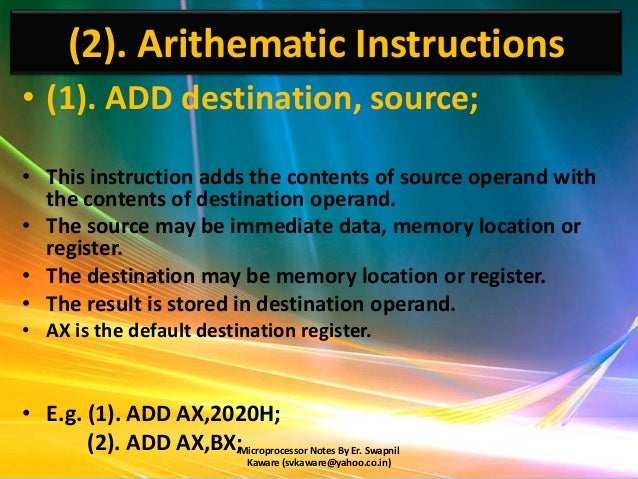 instructions for pop for addition and subteraction