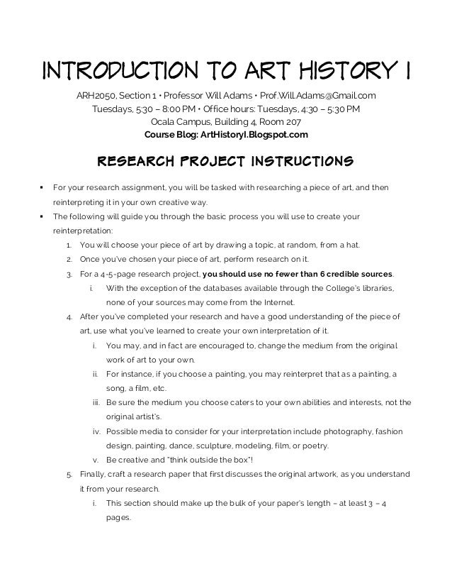 what does instruction manual for science project