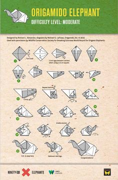 printable origami instructions advanced elephant