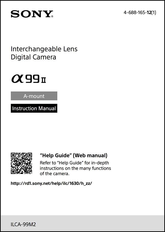 sony alpha 77 ii instruction manual