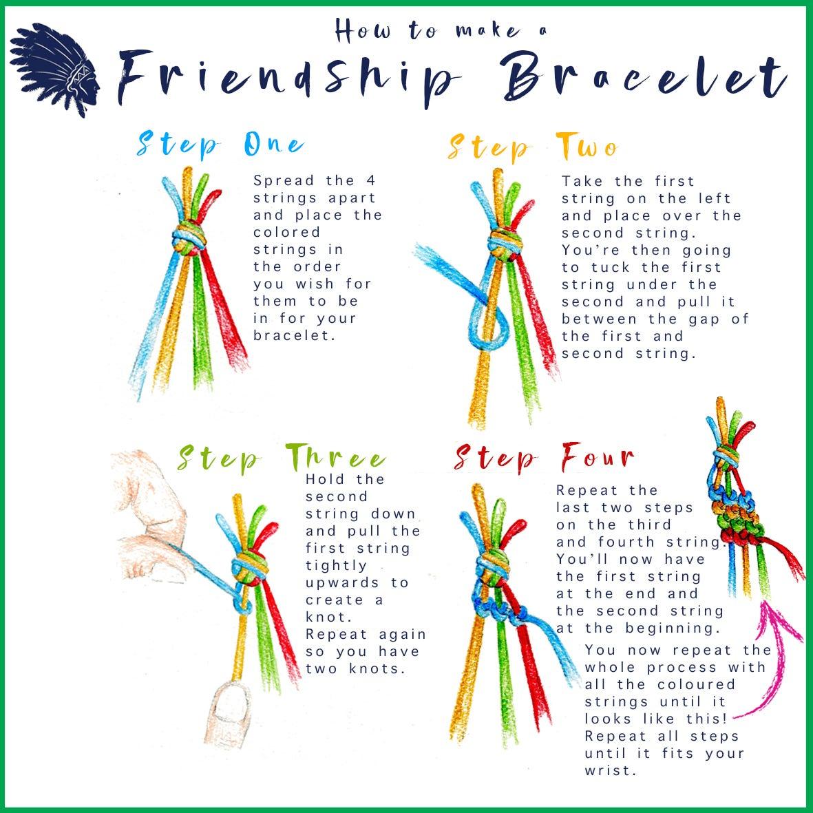 printable friendship bracelets instructions