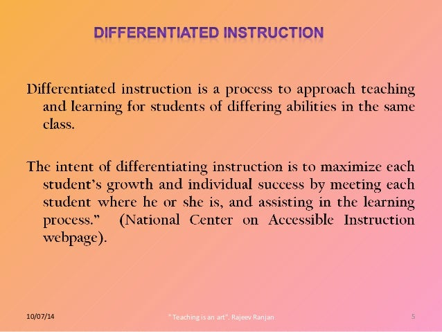 differentiated instruction in lab