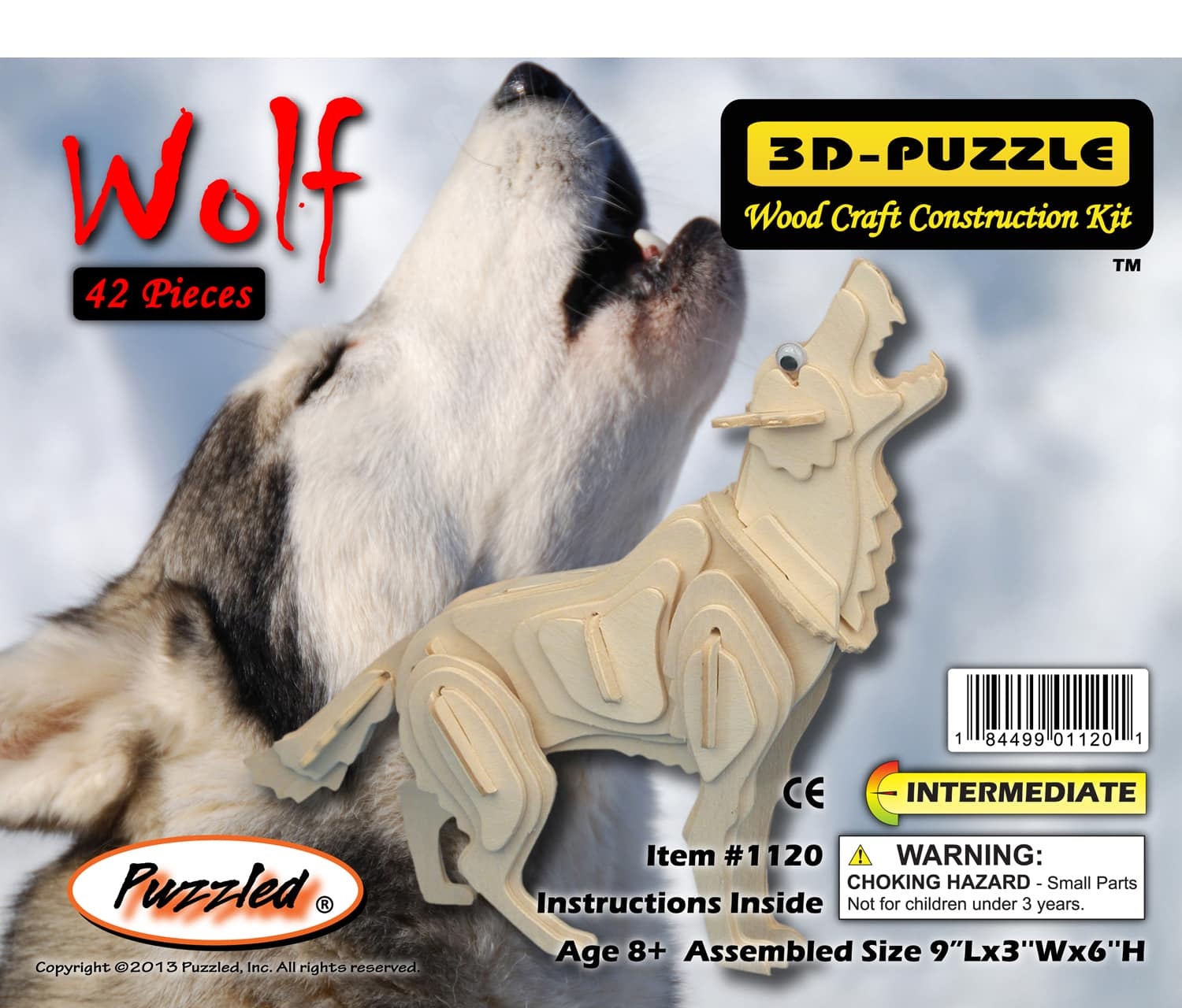 3d crystal puzzle instructions wolf
