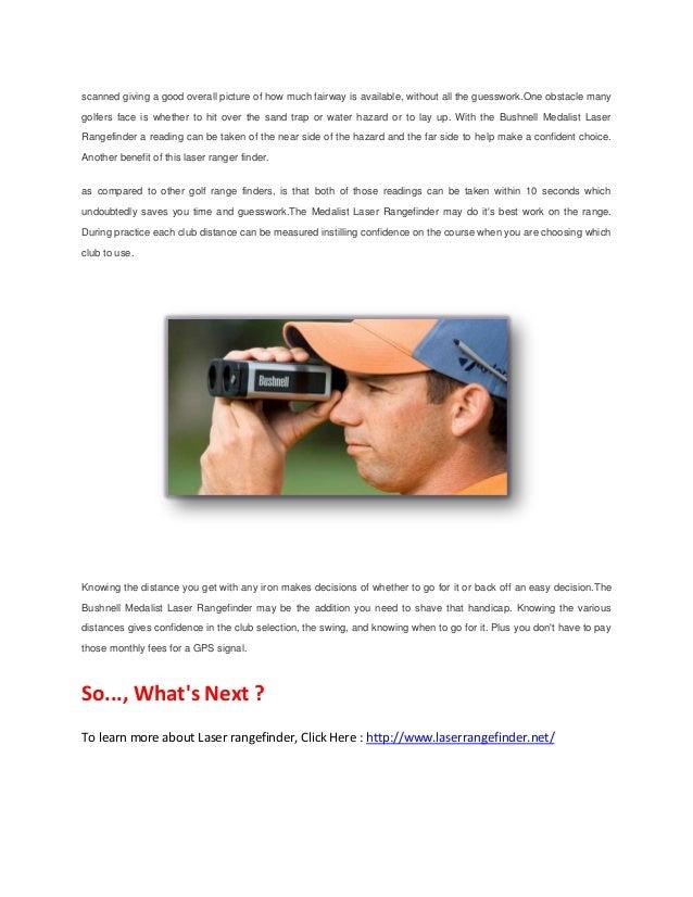 bushnell medalist rangefinder instructions