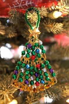 instructions for making beaded christmas ornaments