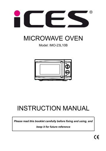 instruction micro-ondes ge