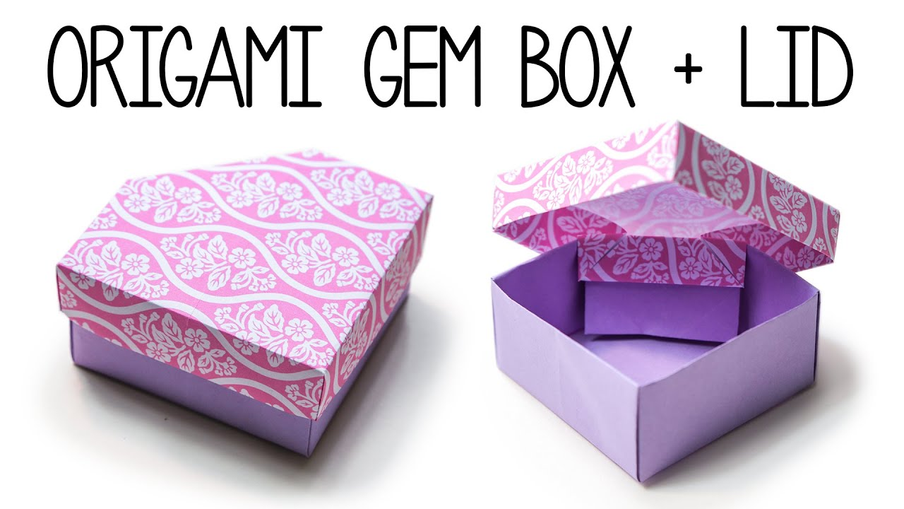 origami box instructions free