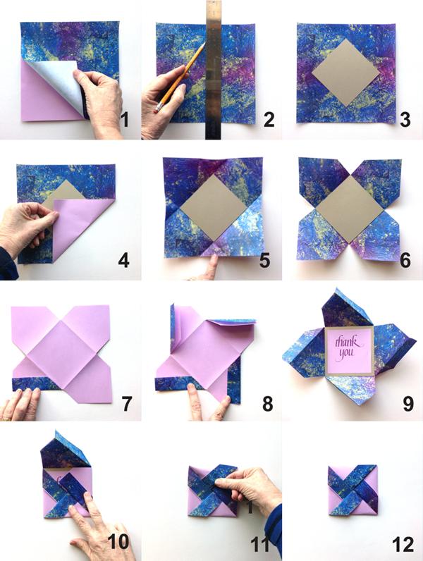 easy origami envelope folding instructions