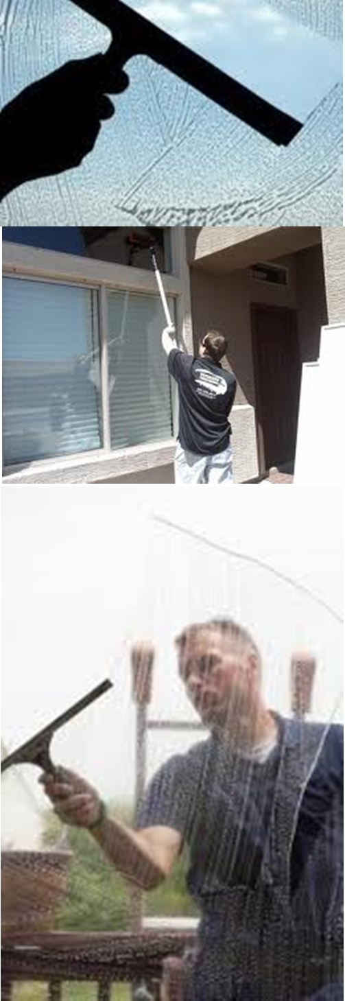 professional window washing instructions