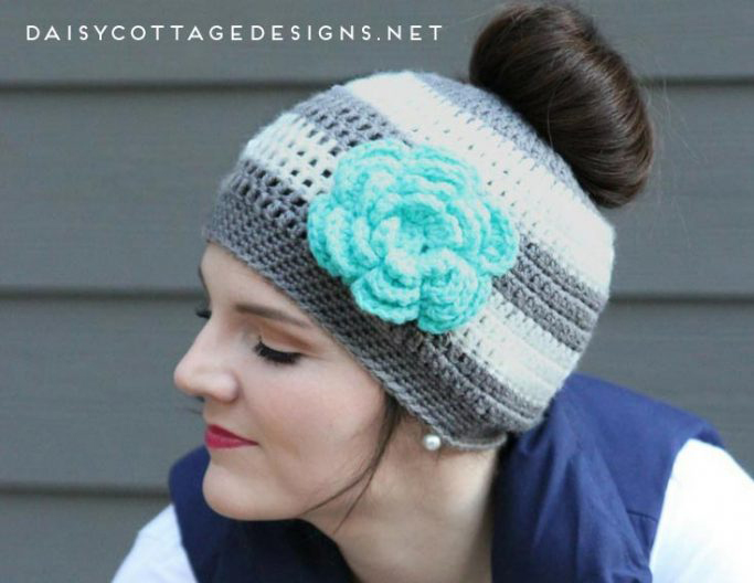 crochet instructions for ponytail hats in canada