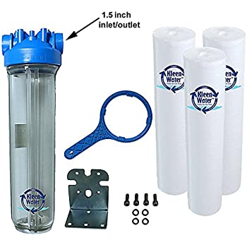 instructions for big blue 20 whole house water filter system
