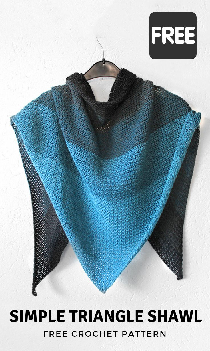 marly bird instructions triangle shawl pattern