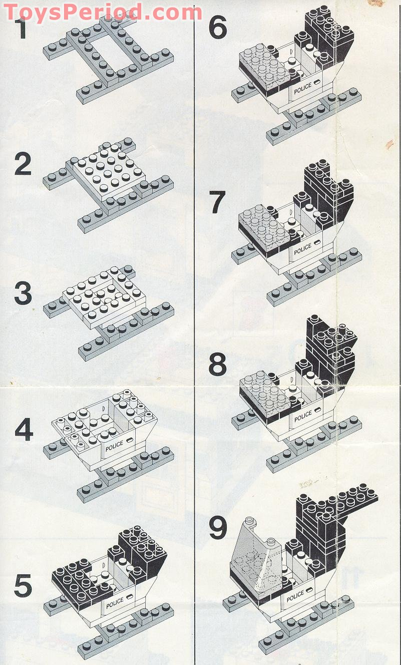 lego police station instruction booklet