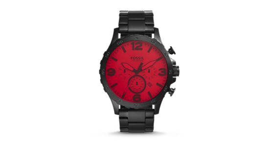 nate chronograph stainless steel watch black instructions