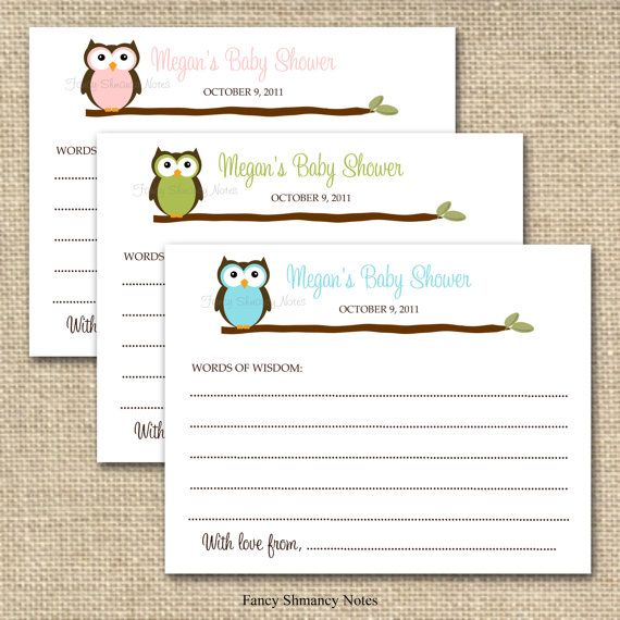 printable word of wisdom instructions for baby shower