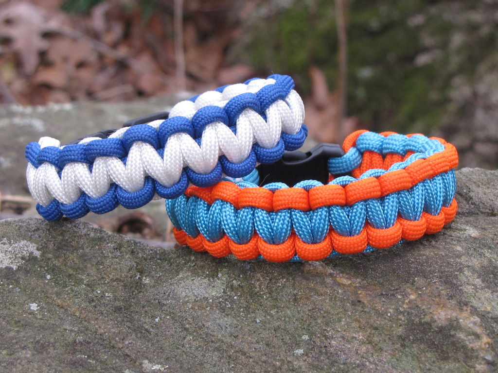 two color paracord survival bracelet instructions with buckle