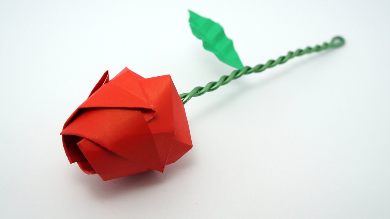 youtube kawasaki rose origami instructions