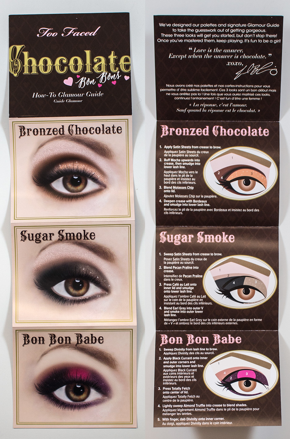 too faced eyeshadow instructions