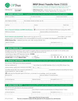 instructions for direct transfer t2033