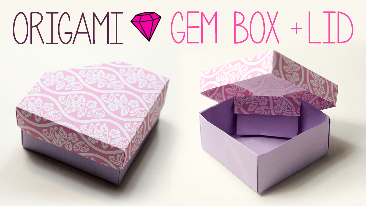 diy origami long box instructions