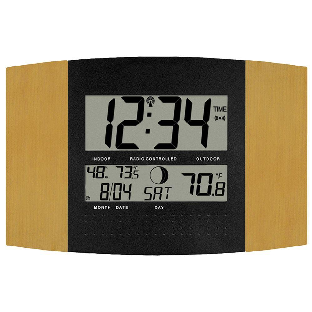 la crosse technology atomic digital wall clock instructions