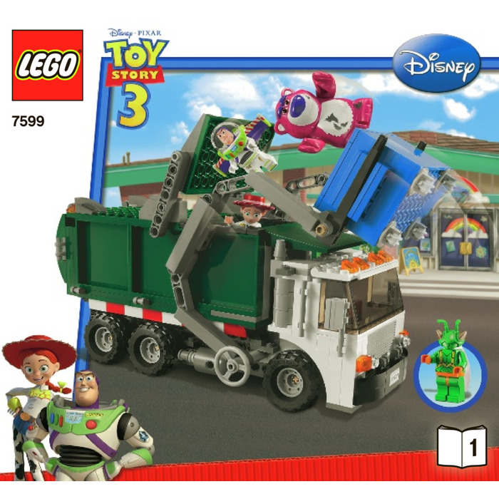 lego green recycling truck instructions