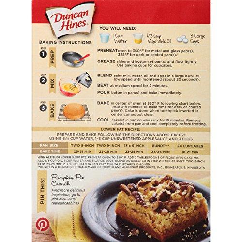 cake mix baking instructions