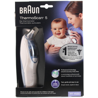 braun ear thermometer canada instructions