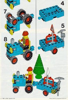 lego classic tractor instructions