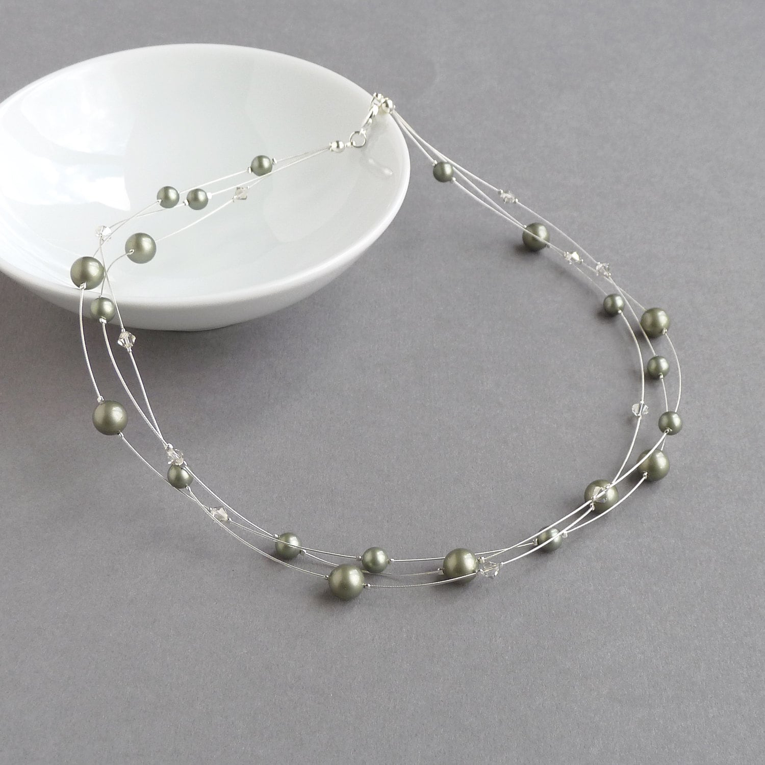 floating pearl necklace instructions