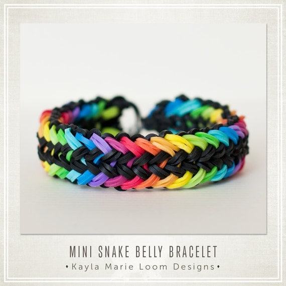mini snake belly rainbow loom bracelet instructions