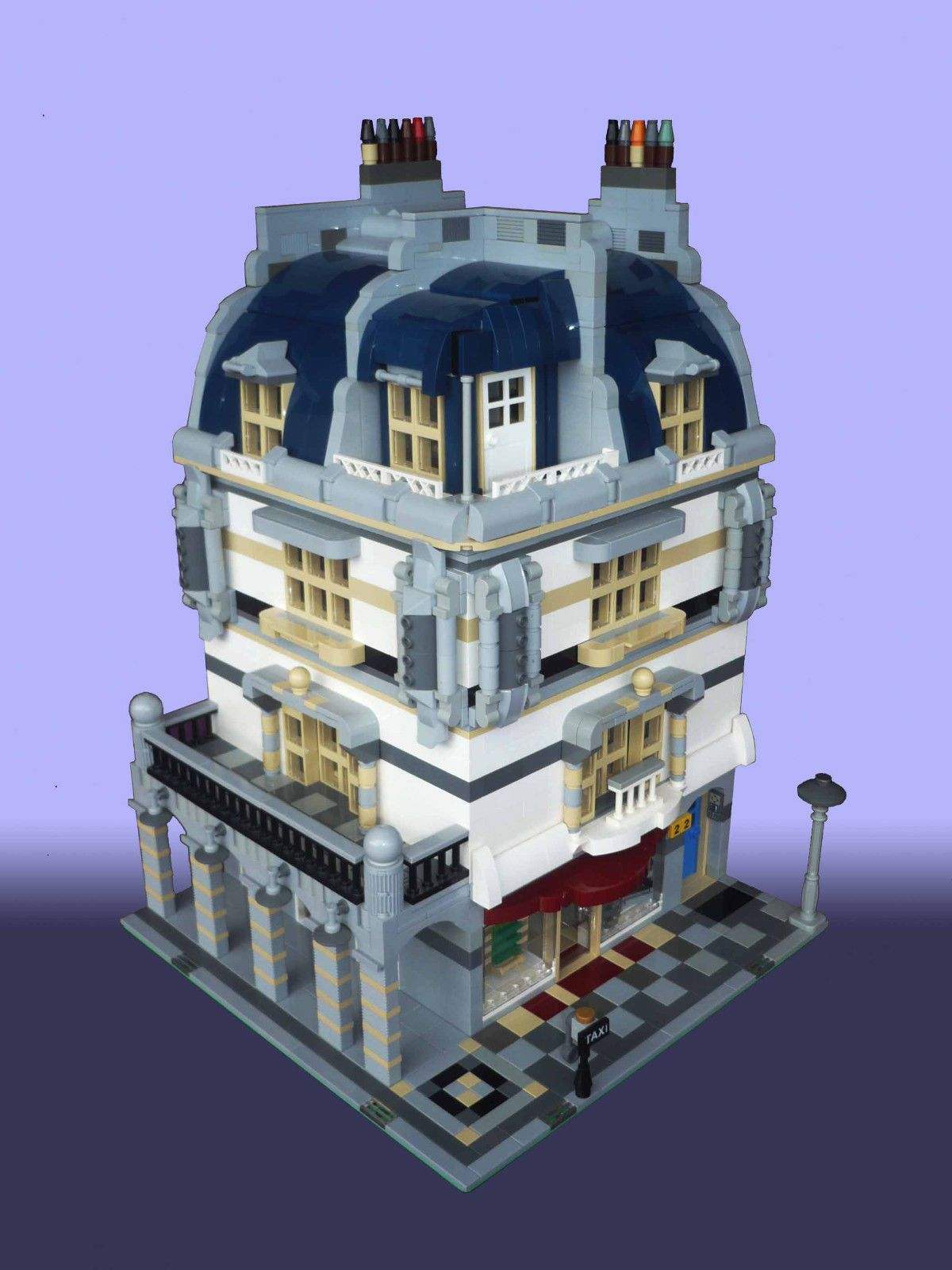custom lego modular buildings instructions