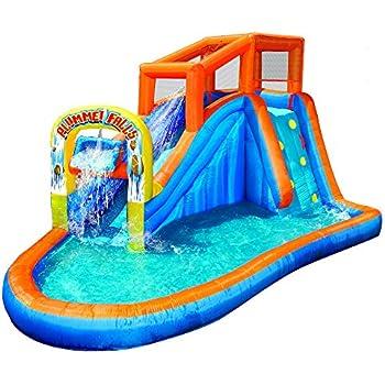 banzai double drop falls water slide instructions