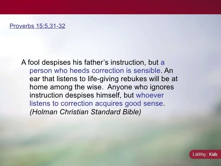 a wise man listens to instruction
