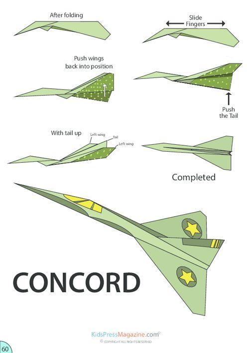 origami paper aeroplane instructions