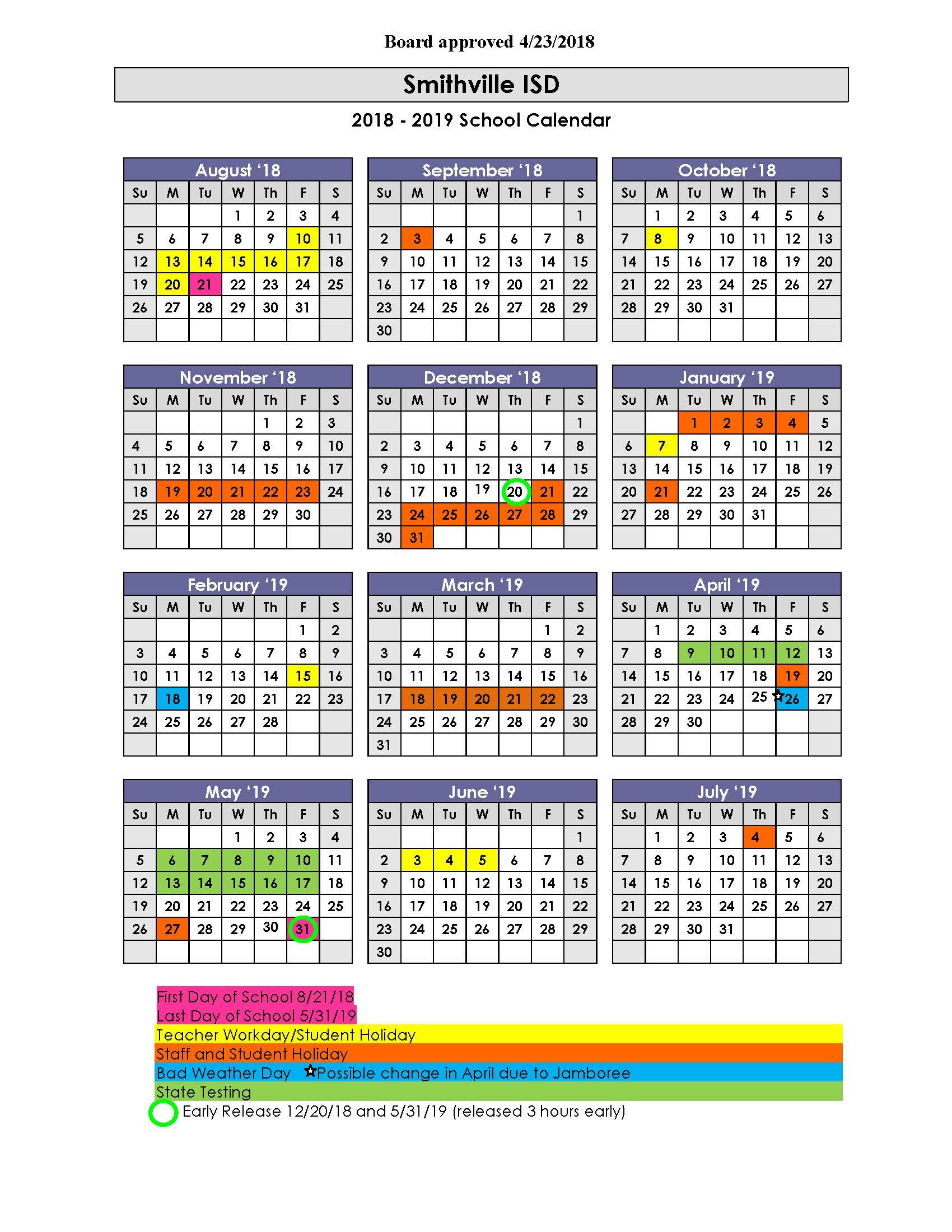 sjusd instructional calendar 2018-2019